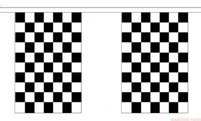 BLACK & WHITE CHECKERED BUNTING - 9 METRES 30 FLAGS